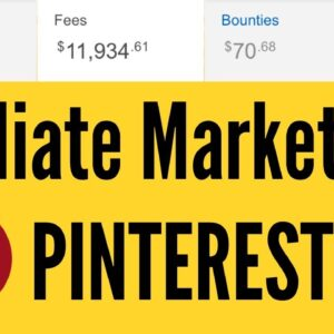 Amazon Affiliate Marketing through PINTEREST | $12,005 DOLLARS 🤑 FAST!