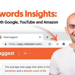 Keywords Insights by Ubersuggest Chrome Extension: How to get Keyword Ideas From the SERP